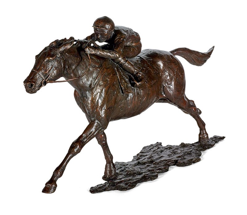 Ascot Racing by Sherree Valentine Daines - Bronze Sculpture sized 16x10 inches. Available from Whitewall Galleries